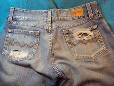 Buckle BKE CULTURE Denim 28x33-1/2 Distressed Blue Jeans Exc. Cond. SHIPS FREE!