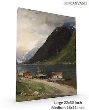 More details for norwegian art georg anton landscape rasmussen 1 canvas wall