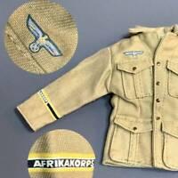 1:6 WWII German DAK Afrika Korps Jacket For 12'' GI Joe Dragon Ultimate Soldier