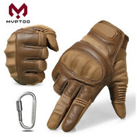 Touch Screen Motorcycle Leather Full Finger Gloves Motorbike Bikes Moto ATV Mens