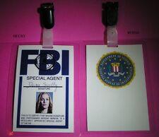 X-Files Badge identification Dana Scully saison 10 Dana Scully FBI card replica
