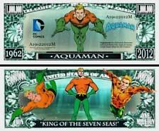 AQUAMAN - BILLET 1 MILLION DOLLAR US! Collection Super Heros serie Comics BD dc