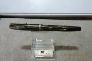 Vintage Parker Duofold Vacumatic Marble Brown Green Striped Fountain Pen