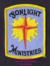 LMH PATCH Badge  SONLIGHT MINISTRIES  Church School Bible College Cross Sun Logo