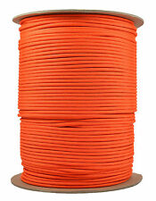 Orange - 550 Paracord Rope 7 strand Parachute Cord - 1000 Foot Spool