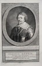 Friedrich Heinrich Prinz von Oranien Dillenburg Niederlande  Kupferstich 1750