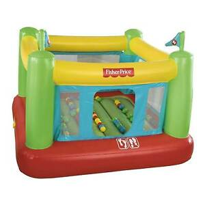 Fisher Price 93532E Indoor Kids Inflatable Bounce House w/ Built-in Pump & Balls