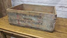 Antique Wooden French Shipping Produce Crate ~ Vintage Primitive Farm Decor Box
