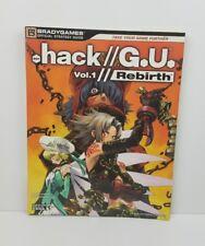 .hack//G.U., Vol. 1//Rebirth - BradyGames Official Strategy Guide RPG RARE NICE