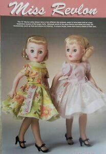 9p History Article + Pics -  VTG Ideal Miss Revlon Dolls Special Exhibit