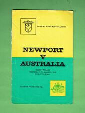 #MM. NEWPORT V AUSTRALIA  RUGBY UNION PROGRAM 7th January 1976