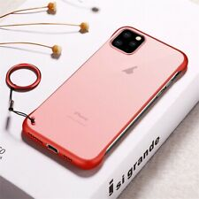 For iPhone 11 Pro Max Ultra Thin Frameless Case Transparent Matte Cover UK