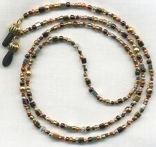COPPER~SILVER~GOLD~BRASS Beaded Eyeglass~Glasses Holder Chain *CUSTOM LENGTH*