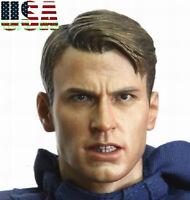 1/6 Chris Evan Captain America 6.0 Head Sculpt Angry Version PHICEN Figure ❶USA❶
