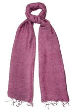 Anemone Pink Silk & Cotton Speckled Scarf - Fair Trade BNWT 180cm x 80cm