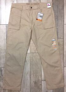 Wrangler Rugged Wear All Terrain Mens Pants Size 42x34 Beige Fast Shipping $57