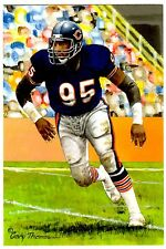 Richard Dent UNSIGNED Pro Football Hall of Fame 4x6 Goal Line Art 2011