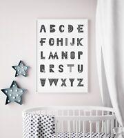 Scandinavian Style Alphabet Print / Picture For Kids Bedroom / Room Scandi Decor