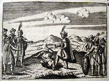Alp Arslan Schlacht von Manzikert Kupferstich 1694 Malazgirt Meydan Muharebesi
