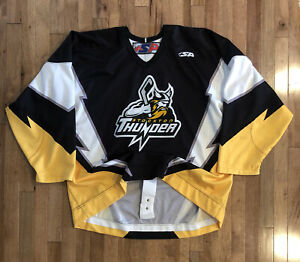 Stockton Thunder ECHL Team Issue Authentic Jersey Black Blank Size 58 PRO SP