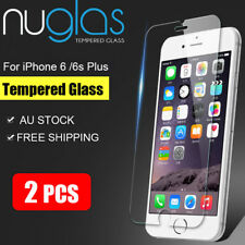 2x GENUINE NUGLAS TEMPERED GLASS Screen Protector For Apple iPhone 6/6s Plus