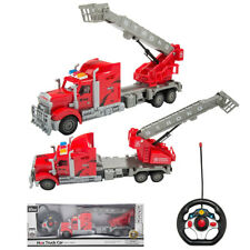 1/15 RC Remote Control Fire Engine Truck Rotatable Ladder W/Lights Kids Toy Gift