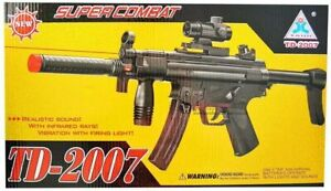 A&N Battery Operated Super Electric MP5 Style ToyGun Light Sound Vibration Flash