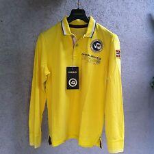 "Superbe T-shirt ""polo"" NAPAPIJRI jaune taille L, neuf, LOOK!!!"