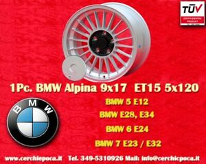 1 Cerchio BMW Alpine Style 9x17 ET15 5x120 5 6 7er Wheel Felge Llanta Jante TÜV