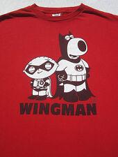 FAMILY GUY wingman MEDIUM T-SHIRT brian & stewie as batman & robin