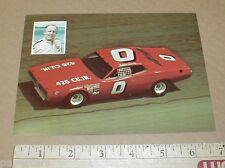 Eddie Bond 1972 1973 Dodge Winston STP vintage NASCAR Racing Postcard handout