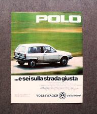 [GCG] M416 - Advertising Pubblicità -1983- POLO VOLKSWAGEN , C'E' DA FIDARSI