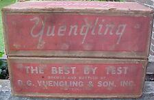 SUPER RARE 1959 YUENGLING PALE DRY PREMIUM BEER CARDBOARD 24 BOTTLE CASE BOX