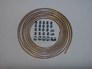 5 m Kunifer-Bremsleitung 4,75 mm + 20 x Verschraubung + 5 x Verbinder. Bördel E