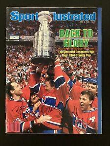 Larry Robinson Signed Sports Illustrated 6/2/86 NoLabel Hockey Gainey+1 Auto JSA