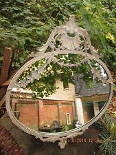 Chic Antique Spiegel *oval *antik creme* Vintage * Shabby Nostalgie Jugendstil