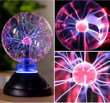 """7"""" Plasma Ball Sphere Lightning Lamp Light Sound Active for Holiday Party Club"""
