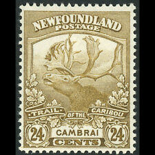 NEWFOUNDLAND Canada 1919 24c Caribou. SG 140. Mint. Heavy Hinge Remains. (WC194)