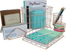 Office Desk Organizer Set 5 Piece Desk Supply Accessories For Home Dorm Office