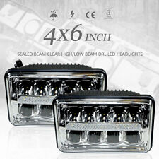 "4""x6"" CREE LED Headlights Sealed Beam Clear High/Low Beam DRL High Power"