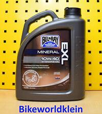 (7,70 €/ L) 4L Bel Ray Exl 10w40 Motore Olio Minerale Moto Suzuki BMW Yamaha