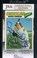 Brooks Robinson JSA Coa Autograph 1977 Topps Hand Signed