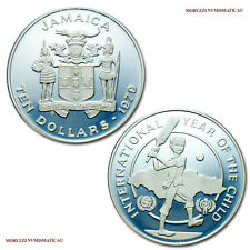 57f2ea9554 MORUZZI - Jamaica 10 DOLLARS 1979 (120073) Year of the Child SILVER PROOF