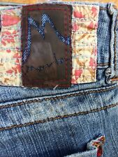 MARLOW Women's Jeans 28 / 7 Flare Low Rise Pre-owned Embellished Distressed