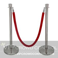 VIP Crowd Control Mirror Crown Top Rope Stanchion in 3 pcs Set 96 Hemp Braided