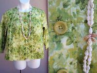 Coldwater Creek NEW green jacket top size XL 16 cotton SPRING EZ CARE blazer