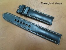 Glashutte curved lug end leather strap watch band MIT Taiwan Cheergiant straps
