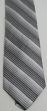PERRY ELLIS Gray Striped Men's New 100% SILK Tie Necktie {AT6 M8-5