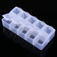10 Grids Leer Nagel Dekoration Behälter Aufbewahrungsbehälter Hülle Kaste Box