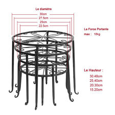 Metal Floor-Standing Wrought Iron Pot Plant Stand Flower Planter 12Style US Sell